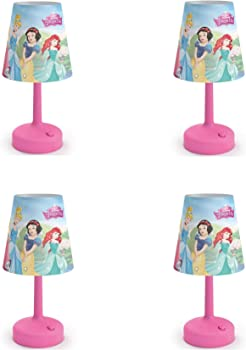 4-Pack Philips Disney Princess Castle Pink Table Lamps