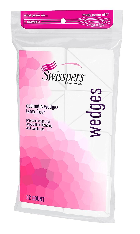 Swisspers Premium Cosmetic Wedges, 32-Count (Pack of 6) US Cotton SHOMDAS4099