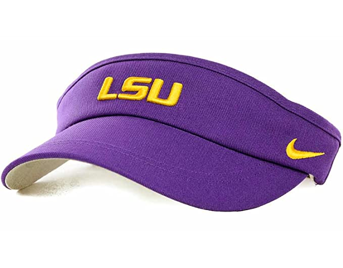 c353ab495abc3 Amazon.com : Nike LSU Tigers NCAA Coaches Sideline Adjustable Dri-FIT Visor  (One Size, Purple) : Sports Fan Apparel : Clothing