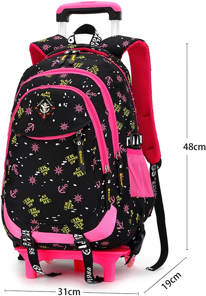 Cartable a Roulette Fille Sac a Roulette Fille Cartable Fille Primaire Sac a Dos Fille a Roulette Sac Fille Primaire a Roulette 2 Roues