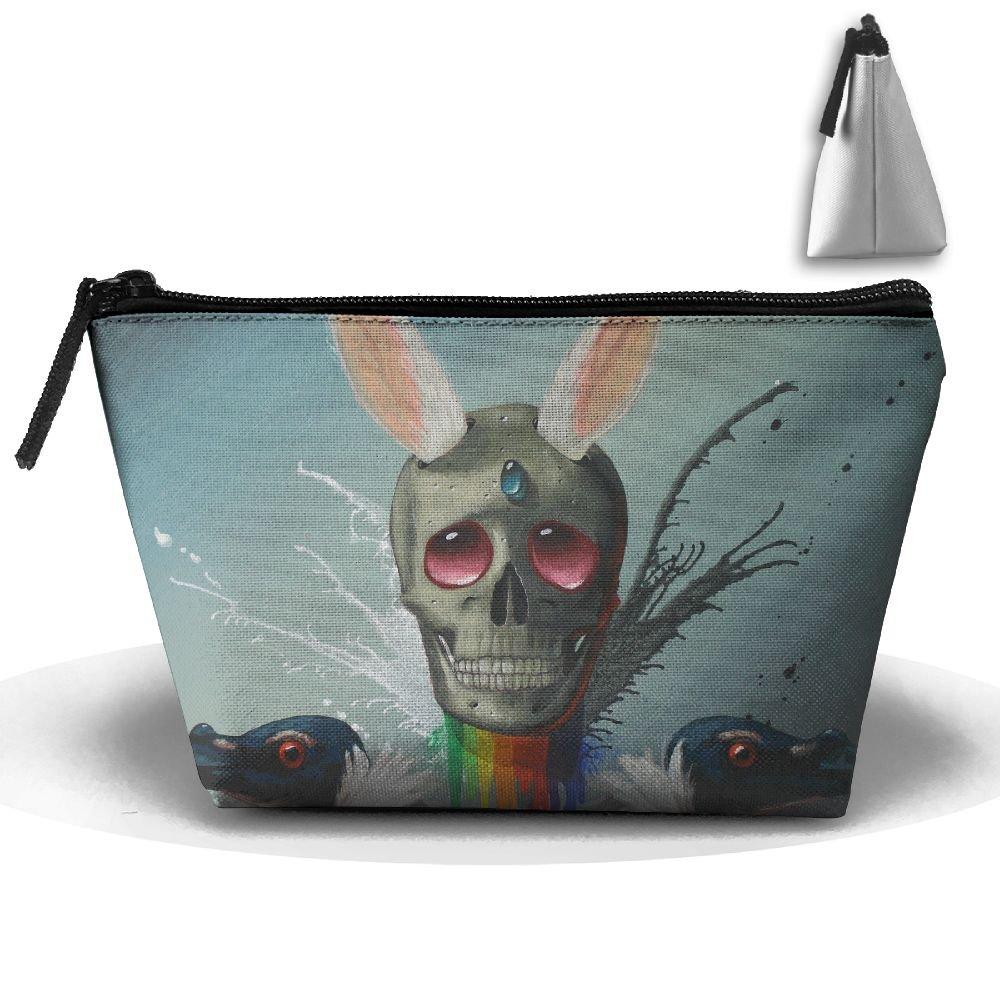 ポータブル旅行アートRabbit Skull Happinessストレージポーチコスメティック化粧品バッグオーガナイザー旅行アクセサリー B07DZSH83X