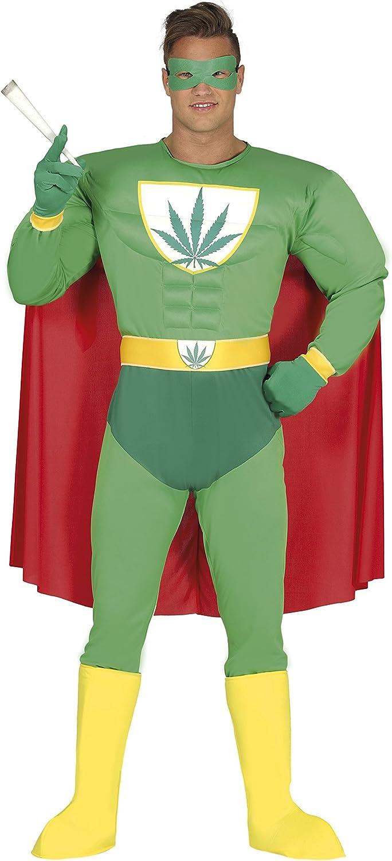 Guirca- Disfraz adulto superhéroe marijuana, Talla 52-54 (88276.0 ...