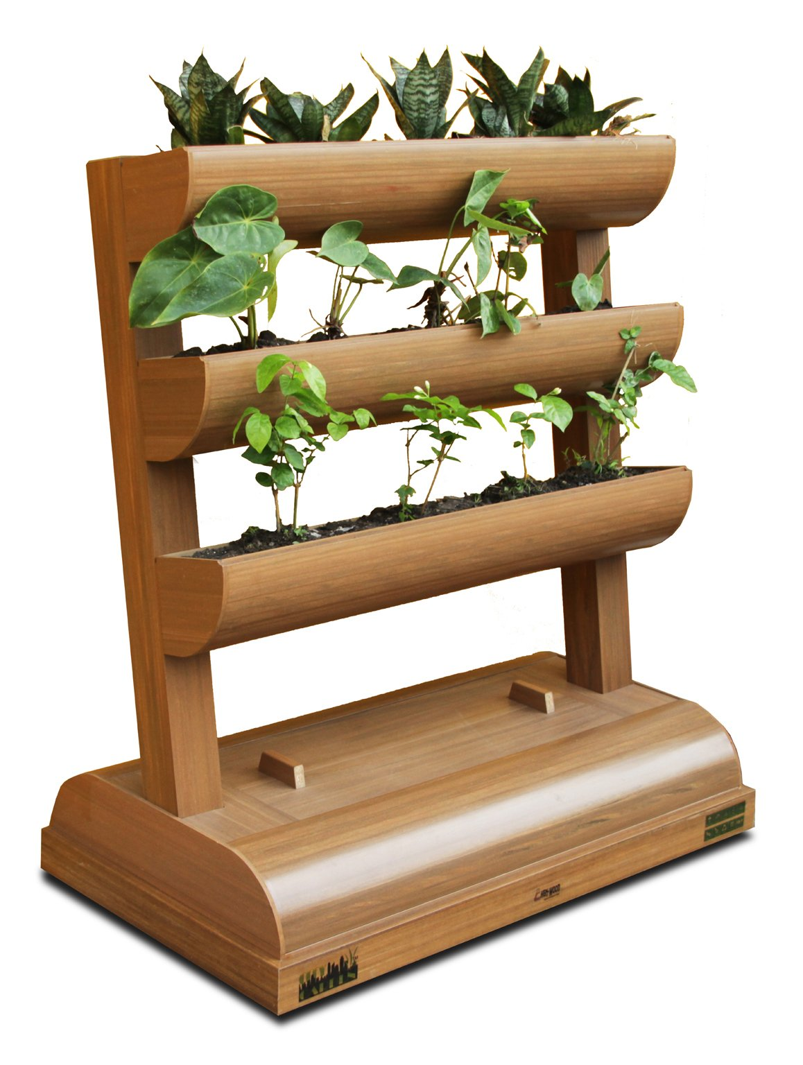 DC America City Garden CG-SP-392140-T Vertical Planter with Storage Box, 3 Shelves by D C America
