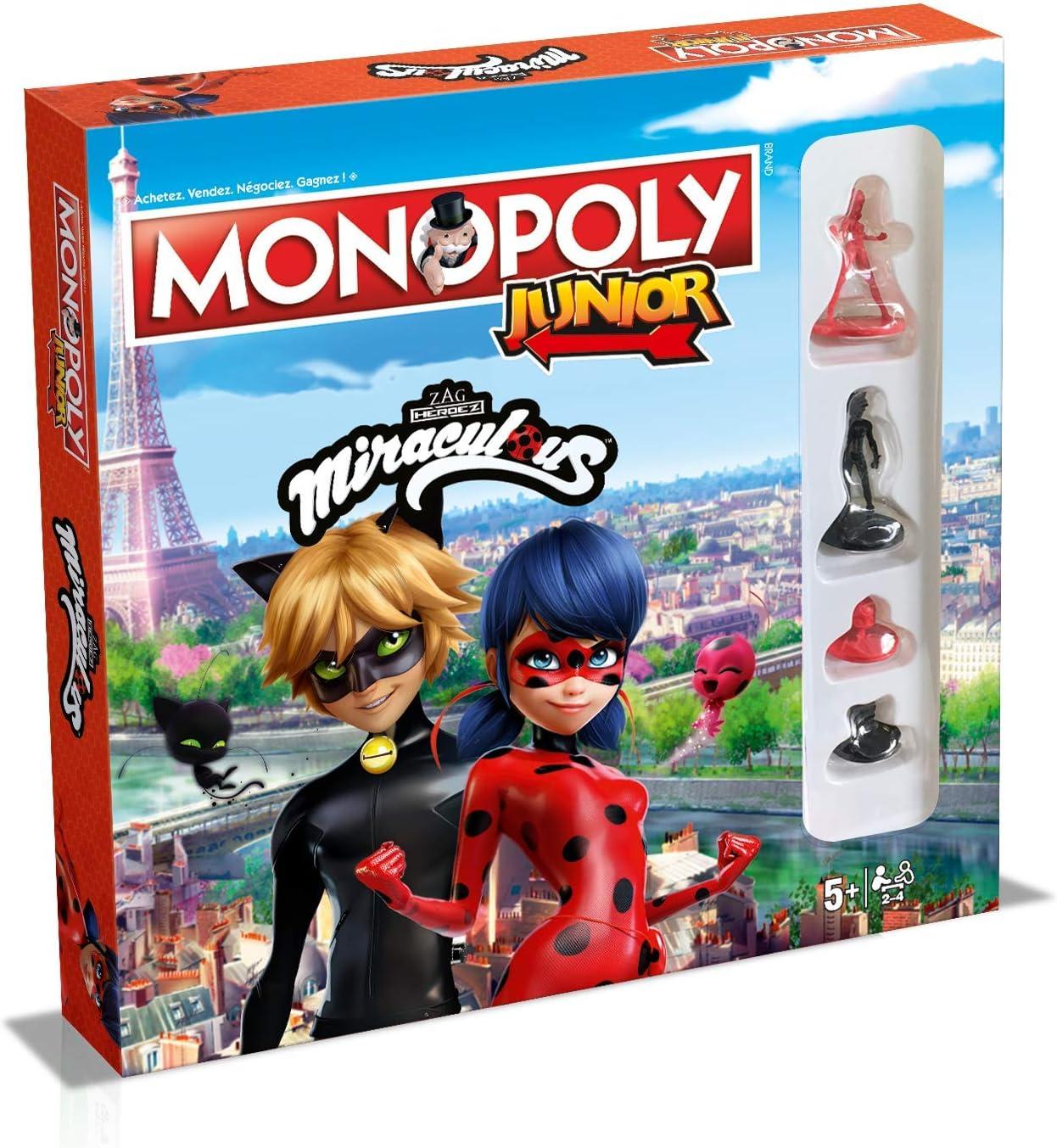 Winning Moves-Monopoly Junior Miraculous, 0237, Versión Francesa: Amazon.es: Juguetes y juegos
