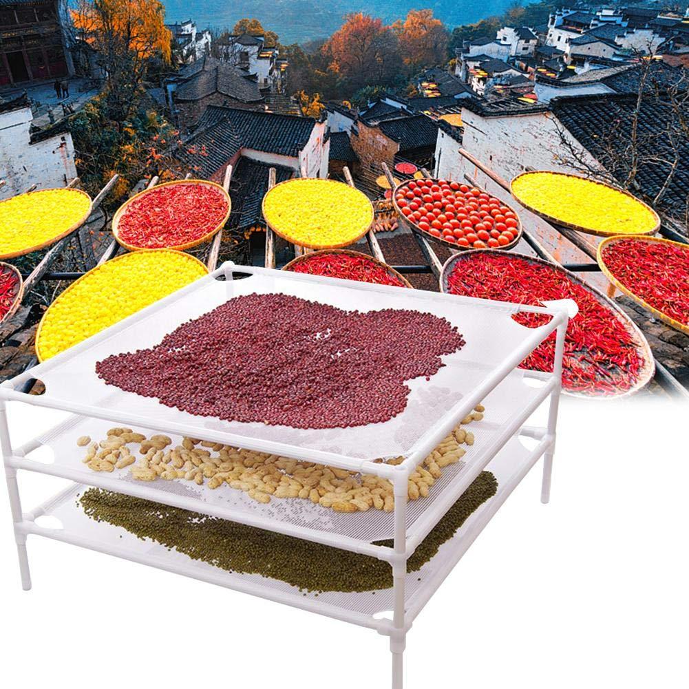 70x70x18cm // 27.56x27.56x7.09in Balc/ón De Red De Secado Baldosas Cuadradas De Malla De ABS Estante Para Alimentos