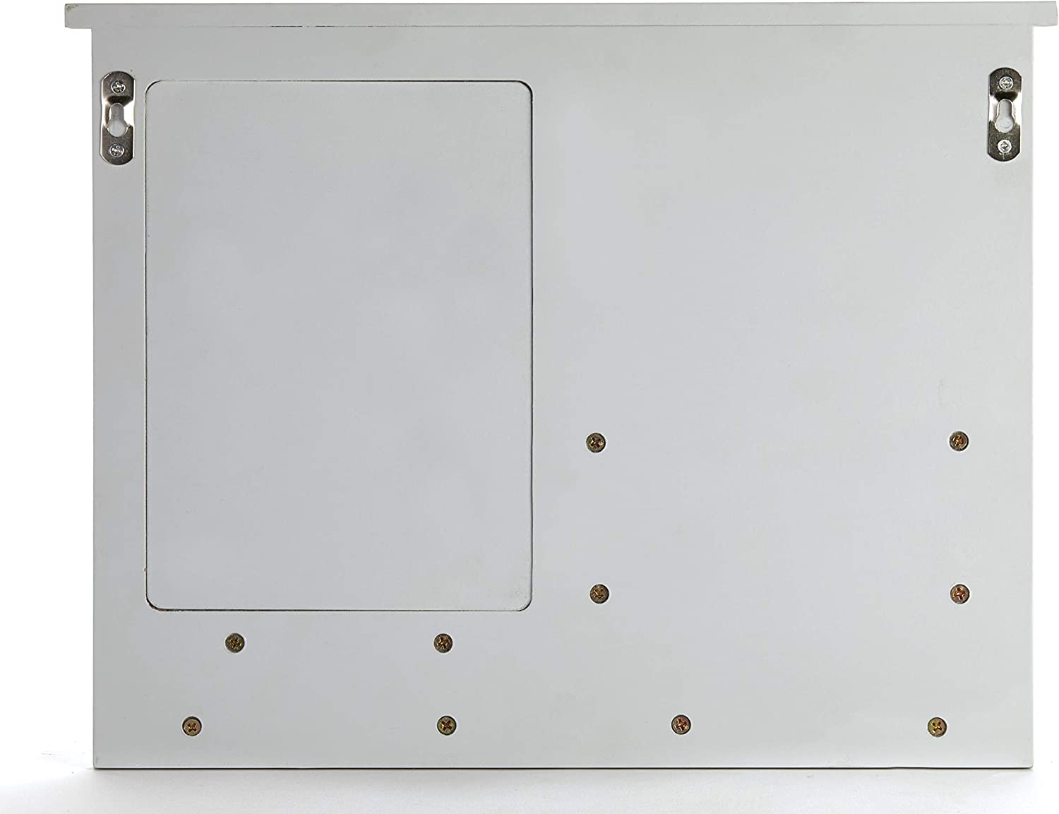 Black Wall-Mounted Barndoor Mail and File Holder with Mini White Board
