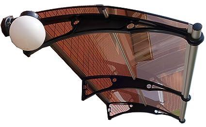 De pared en voladizo para toldo de policarbonato DIY 1000 x 3000 mm/delantera y