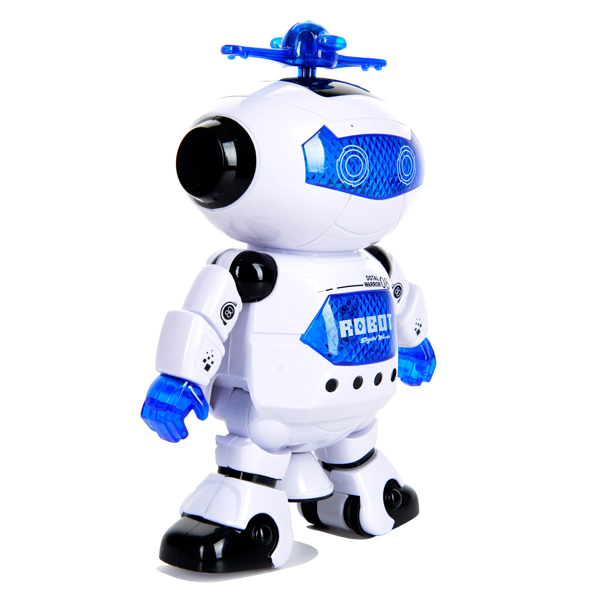Toysery Electronic Walking Dancing Robot Toys With Music Lightening For Kids Boys Girls Toddlers, Battery Operated Included by  Toysery (Image #2)