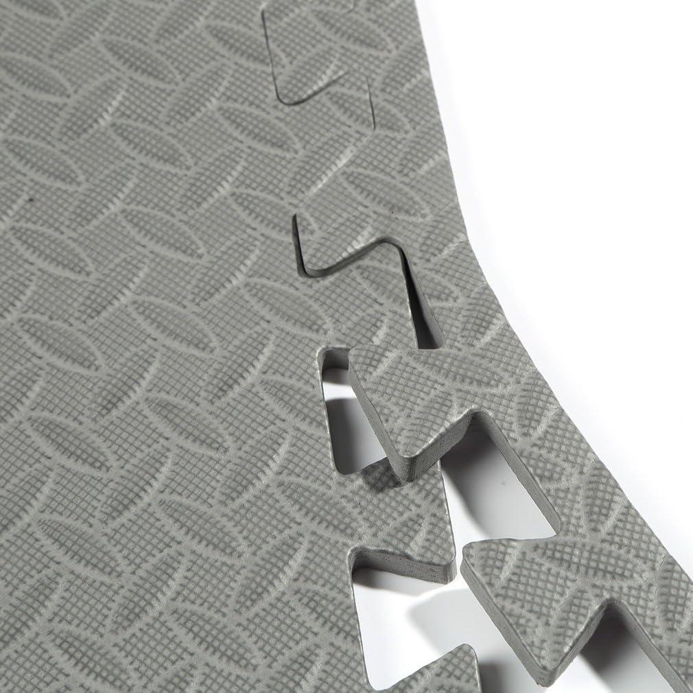 K/älte Bodenschutzmatten Fitnessmatten f/ür Bodenschutz Matten Schutz vor Dellen Fitnessraum Sport Schutzmatten Set 60 x 60 cm Puzzlematten Fl/üssigkeit Unterlegmatten Keller