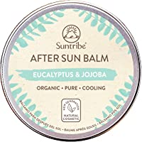 Suntribe All Natural After Sun Balm Eucalyptus & Jojoba - 100% Ekologiskt After Sun-balsam - Kylande & Återfuktande…