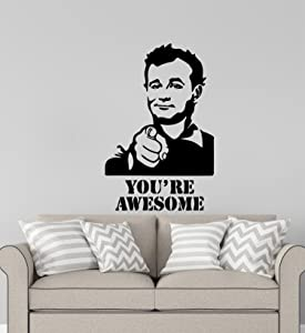 Advanced store Ghostbusters Movie Wall Vinyl Decal Film Wall Sticker Venkman Bill Murray Quotes You're Awesome Home Removable Interior Children Room Wall Stickers Murals MK7966