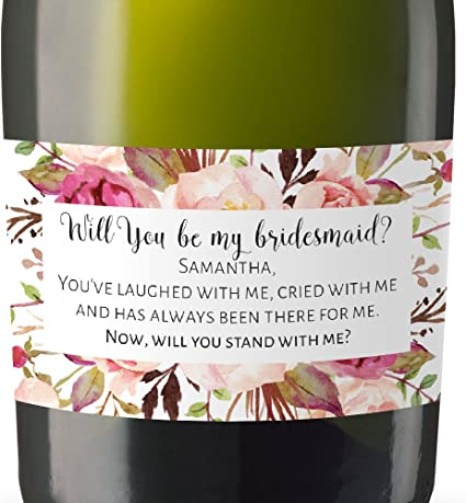 Will you be my bridesmaid? Personalised /'Bride Tribe/' Candle Label//Sticker