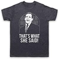 My Icon Art & Clothing Office Michael Scott That's What She Said Comedy TV - Camiseta para Hombre