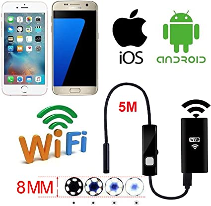 WIFI Endoscope Inspection Snake Camera 8.5mm Borescope For IOS iPhone Android