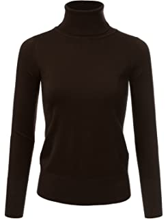 371f24decc JJ Perfection Women s Stretch Knit Turtle Neck Long Sleeve Pullover Sweater