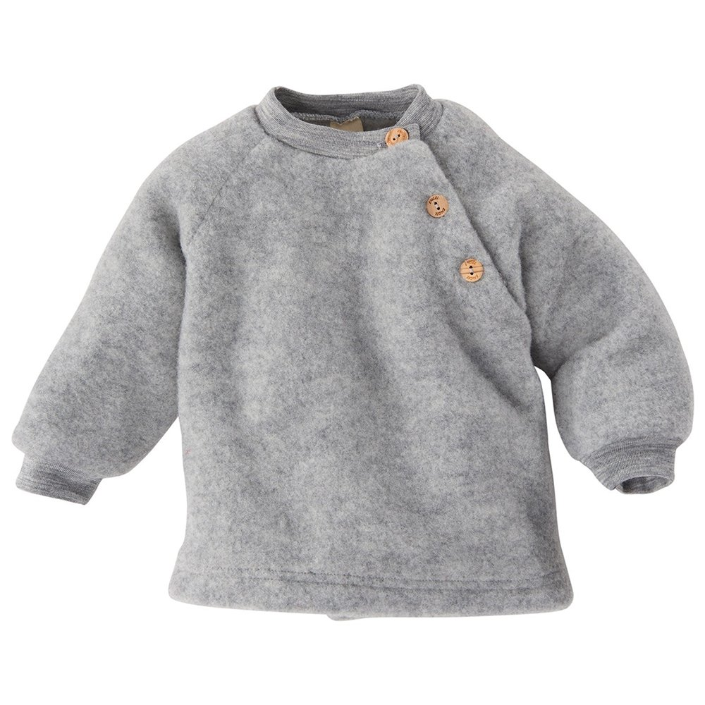 EcoAble Apparel Baby Toddler Ultra Warm Sweater, 100% Organic Merino Wool Fleece, Sizes NB-2T (62-68cm/3-6 Months, Grey) by EcoAble Apparel