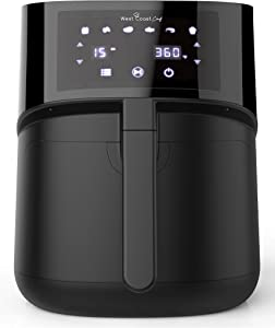 West Coast Chef Air Fryer 5.8 Quart w/ Digital Touchscreen - Power XL Air Fryer Oven, Airfryer, Freidora De Aire, Large Air Fryer XL, Power Air Fryer XL, Air Frier