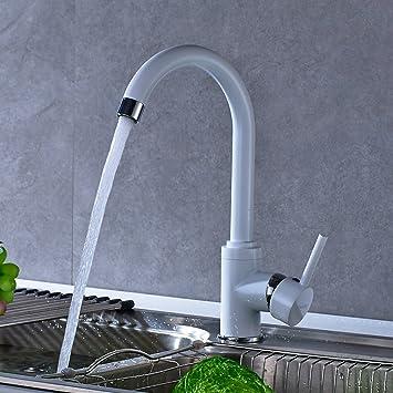 Amazon.de: AuraLum® 360°drehbar Weiss Wasserhahn Spültischarmatur ...