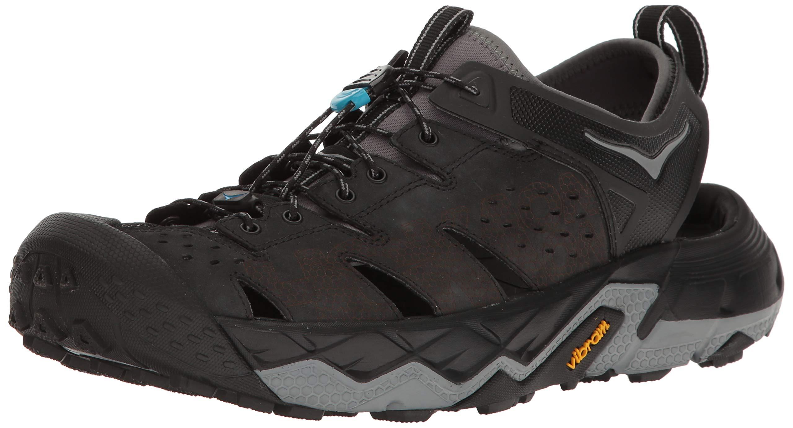 HOKA ONE ONE Men's Tor Trafa Hiking Sandal,Anthracite/Black,US 11.5 M by HOKA ONE ONE