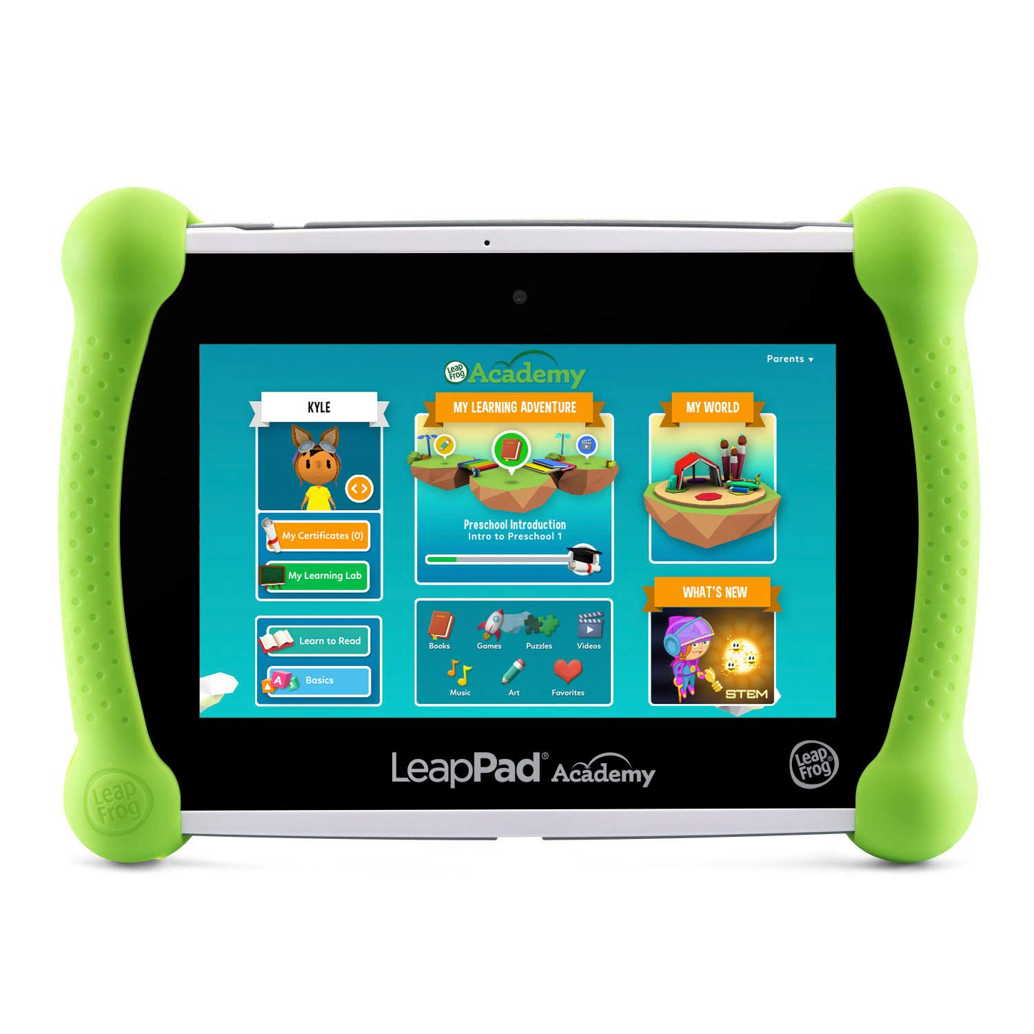 LeapFrog LeapPad Academy Kids' Learning Tablet, Green by LeapFrog (Image #2)