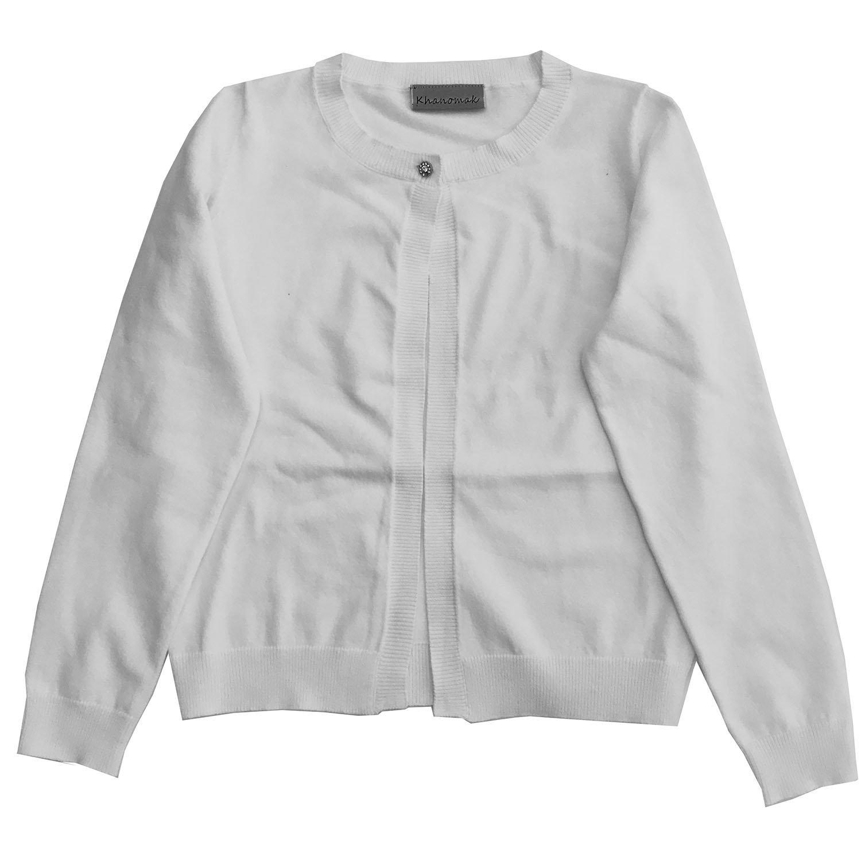 Khanomak Kids Girls Cropped Shrug Cardigan Sweater (Sizes 3T- 14 Yrs) Kh007