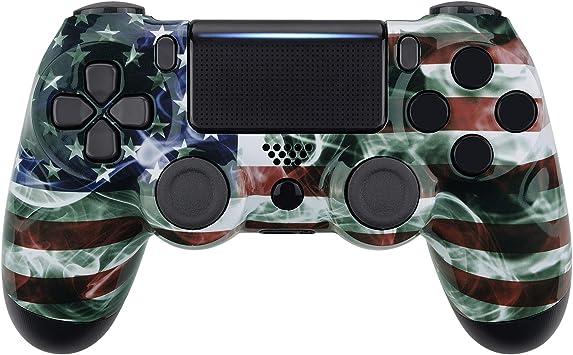 eXtremeRate Carcasa para PS4 Funda Delantera Protectora de la Placa Frontal Cubierta para Mando de Playstation 4 PS4 Slim Pro CUH-ZCT2 JDM-040 JDM-050 JDM-055(Bandera Americana Nebulosa): Amazon.es: Electrónica
