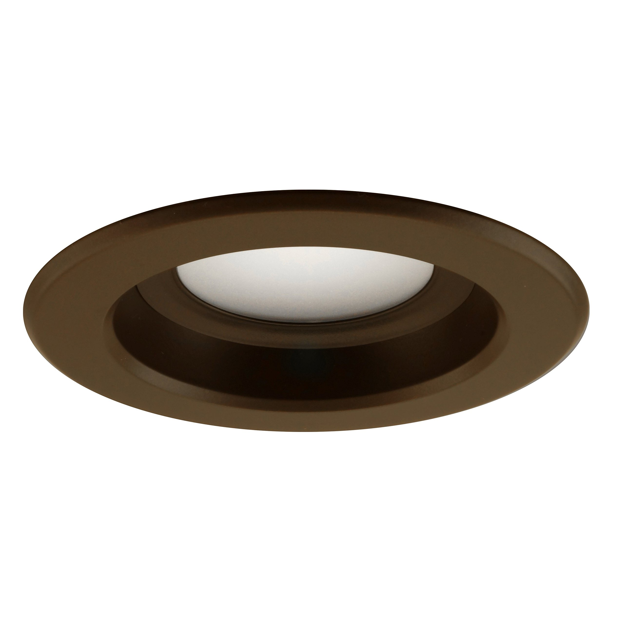 NICOR Lighting 4-Inch Dimmable 3000K LED Remodel Downlight Retrofit Kit for Recessed Housings, Oil-Rubbed Bronze Trim (DLR4-3006-120-3K-OB) by NICOR Lighting