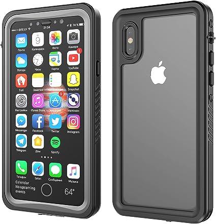 Moonmini Custodia Impermeabile per iPhone X, IP68 Certificato Waterproof Cover Slim Antiurto Antineve Antipolvere AntiGraffio Subacquea Caso Full ...