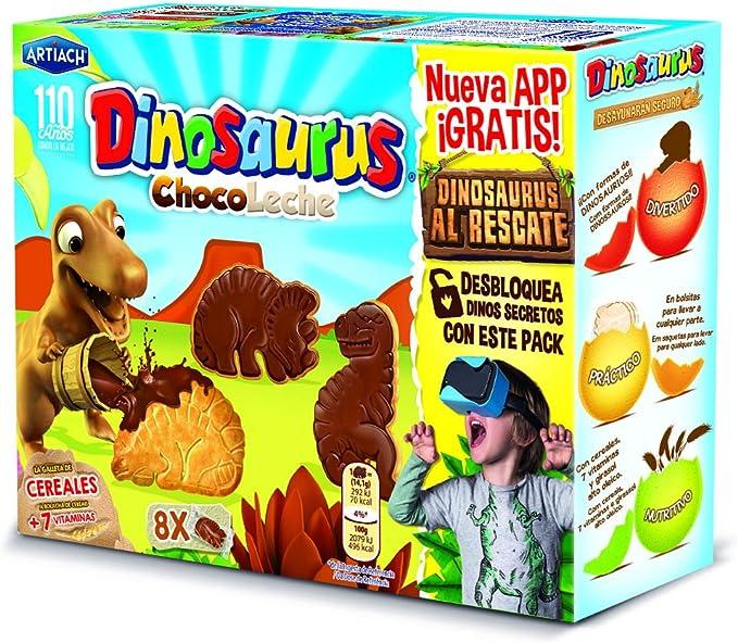Dinosaurus - ChocoLeche - Galleta de cereales con chocolate con leche - 8 paquetes - [pack de 3]: Amazon.es: Alimentación y bebidas