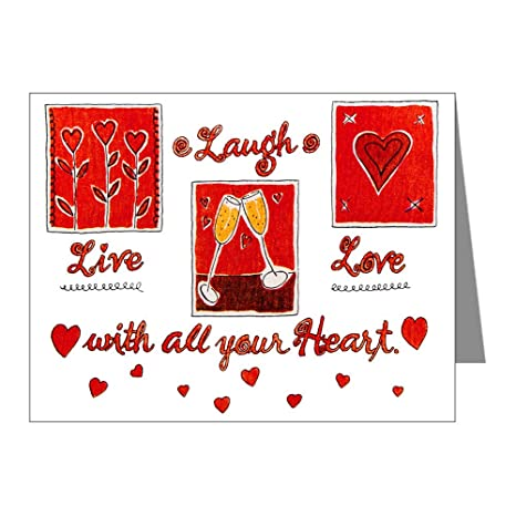 Amazon greeting cards 10 pack laugh live love with your greeting cards 10 pack laugh live love with your heart m4hsunfo