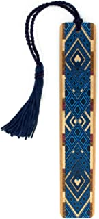 product image for Personalized Argyle (Blue) Wooden Bookmark with Tassel