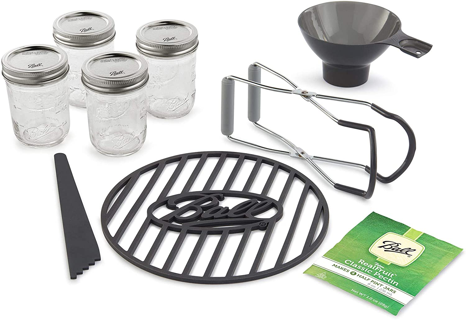 Ball 1440010808 Preserving Starter Kit, 9-Piece, Clear