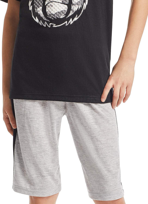 Jellifish Kids Boys 3-Piece Pajama Set Jogger Pants /& Shorts Sleep Top