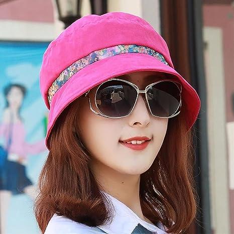 RangYR Sombrero De Mujer Sra. Cap Sombrero De Pescador De Algodón De  Primavera Y Verano 07b37b8347e