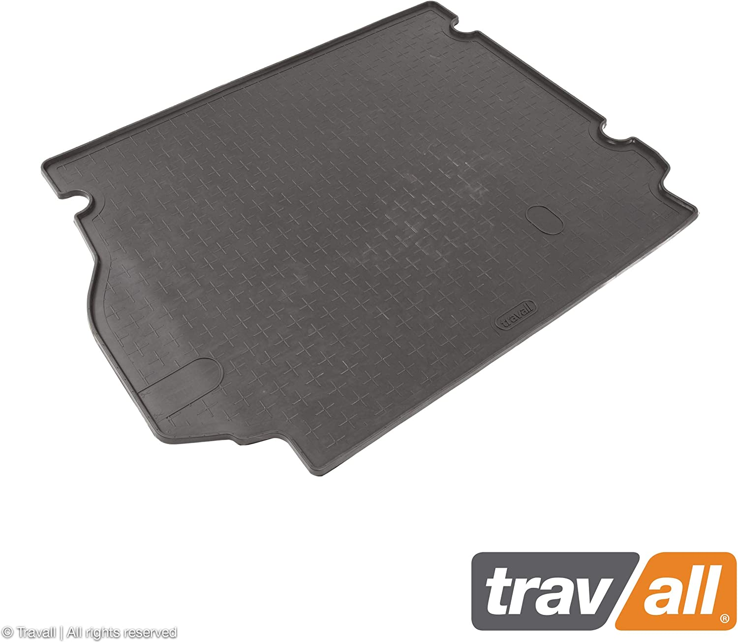 Travall Liner Compatible with Land Rover Range Rover Sport Rubber (2005-2013) TBM1001 - All-Weather Black Rubber Trunk Mat Liner