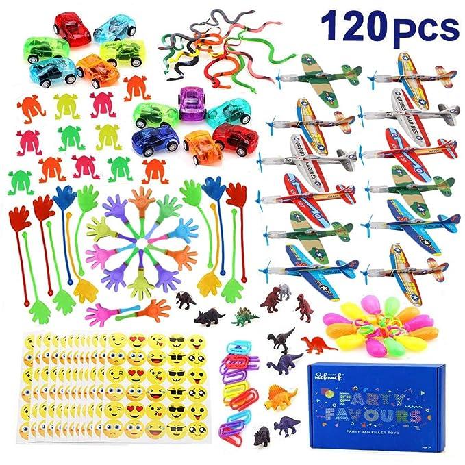 nicknack Relleno Pinata Infantil Juguetes,120 Piezas Unidades para niños Niños y Niñas piñata cumpleaños Infantil cumpleaños Partido Regalos