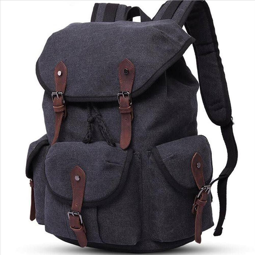 ZGSP Leisure Retro Canvas backpack Male//female every day Waterproof Wearable Earthquake resistance student High capacity Computer backpack Can put 14 inch computer