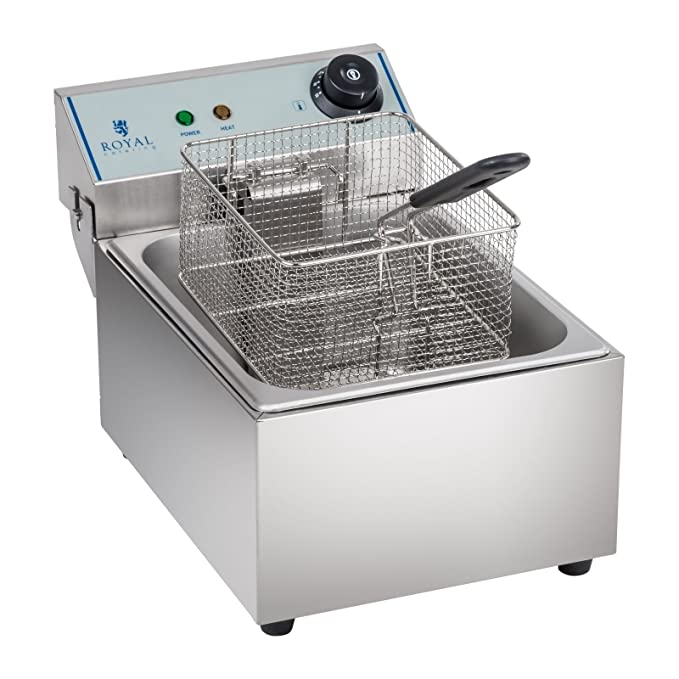 Royal Catering Freidora Electrica Profesional RCEF-10EY-ECO (10 Litros, 3.200 W, 230 V, Acero inoxidable): Amazon.es: Hogar