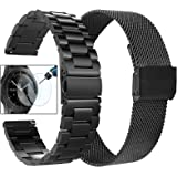 Koreda Compatible with Samsung Galaxy Watch (42mm)/Galaxy Watch Active/Active 2 Bands Sets, 20mm Stainless Steel Metal Band +