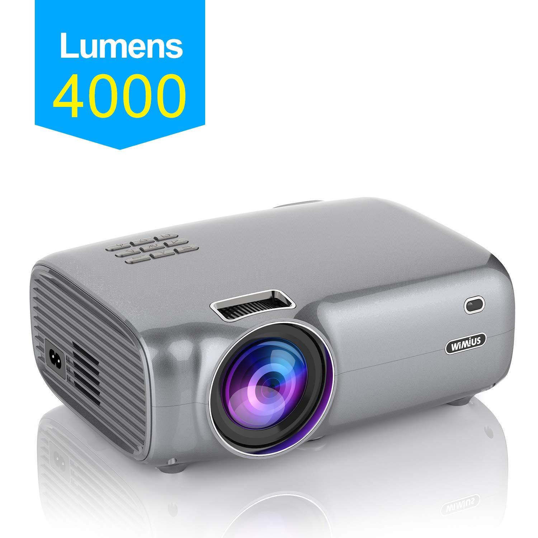 WiMiUS - Proyector de vídeo Full HD (soporta 1080P, proyector de ...