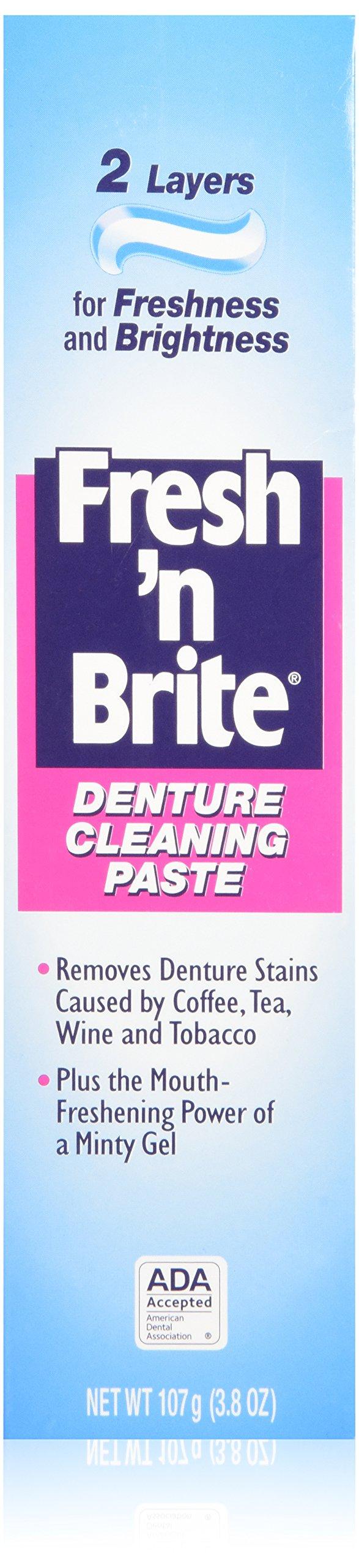 Stim-U-Dent Fresh 'n Brite Denture Cleaning Paste, 2 Count