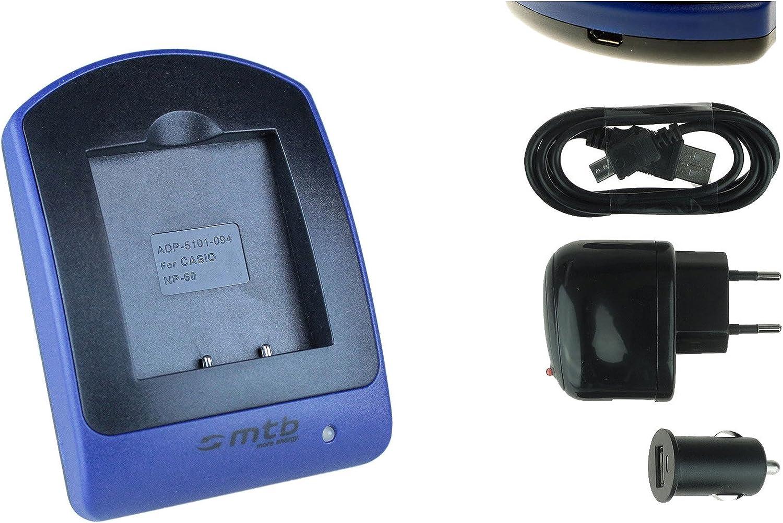 Baterìa + Cargador (USB/Coche/Corriente) NP-60 para Casio Exilim EX-FS10 S10 S12 Z9 Z19 Z22 Z25.Ver Lista: Amazon.es: Electrónica