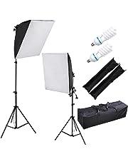 Yescom 2X Photography Soft Box Softbox Light Stand Kit Continuous Lighting Studio Bulbs