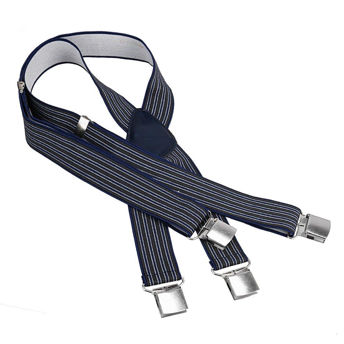 Bundle Monster 4pc Modern Man Design X-Back Adjustable Clip Unisex Suspender by Bundle Monster (Image #3)