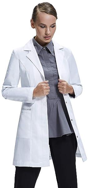 Dr. James Bata de Laboratorio Mujer, Corte Entallado, Diseño Femenino: Amazon.es: Ropa y accesorios
