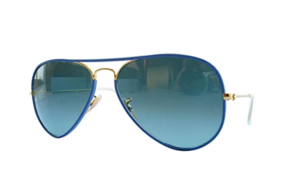 Ray-Ban AVIATOR FULL COLOR - ARISTA Frame BLUE GRADIENT BLUE Lenses 58mm Non-