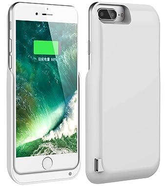 iPhone 7 Plus recargable caso, foxin funda Cargador de ...