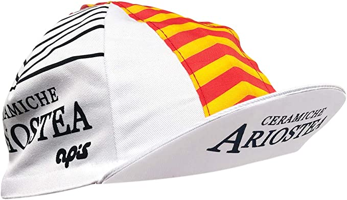 Positz Ceramiche Ariostea Retro - Gorra de ciclismo, color blanco ...