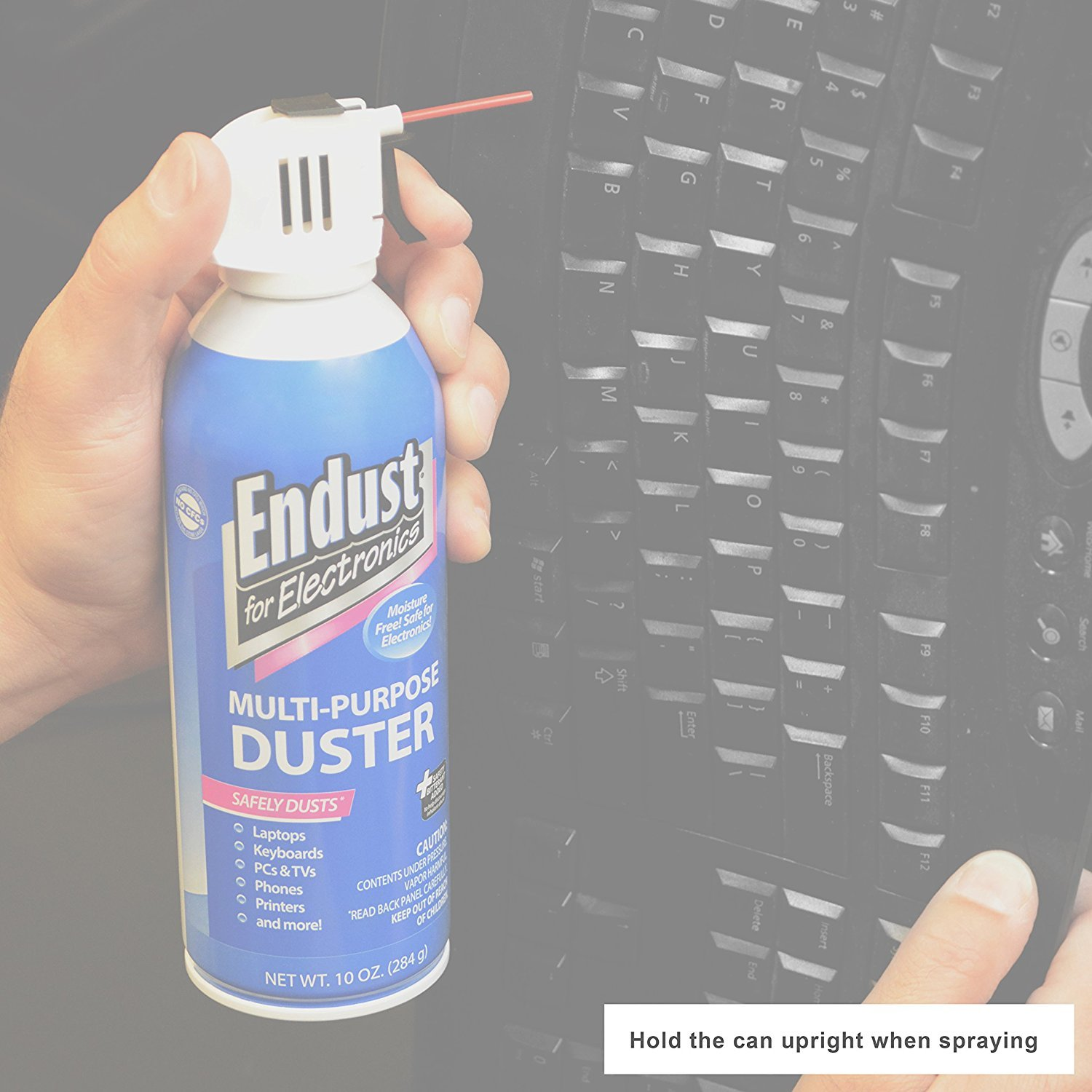 Endust for Electronics, Twin Pack, 2 Compressed dusters, 10 oz per can, Contains bitterant (11407) by Endust (Image #3)