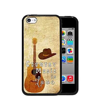 Amazon.com: Country Music is Love Quote Guitar Cowboy Hat ...